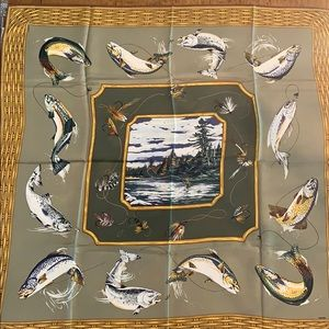 Wathne Fly Fishing Silk Scarf